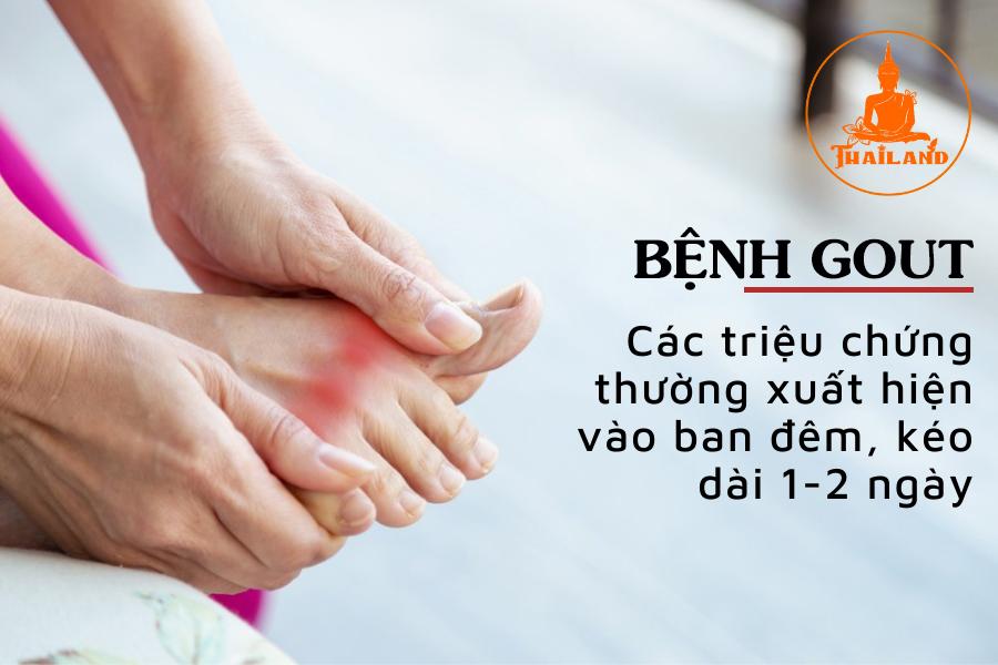 Các triệu chứng của bệnh gout (gút, thống phong)