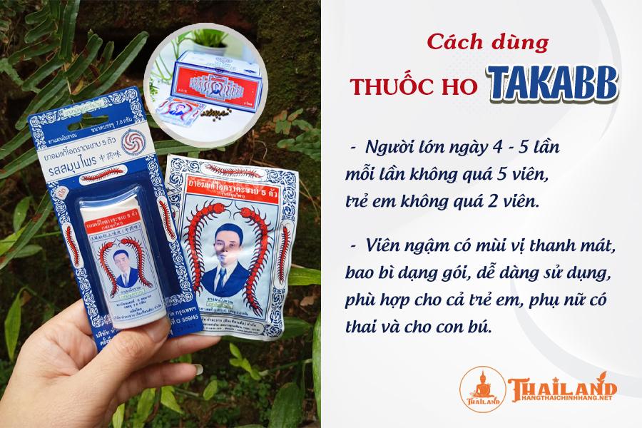 Thuốc ho Con Rết Thái Lan cách dùng như thế nào?