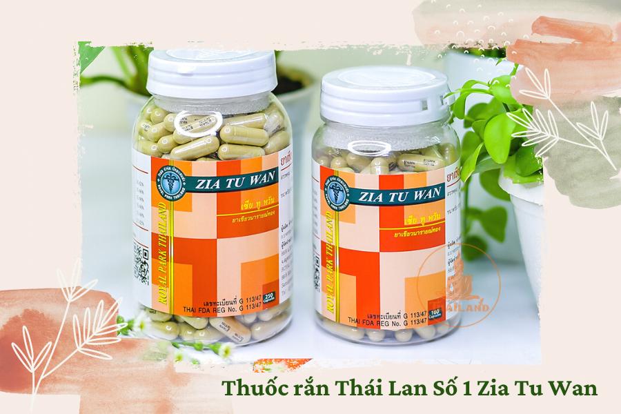 Cách dùng thuốc rắn Zia Tu Wan