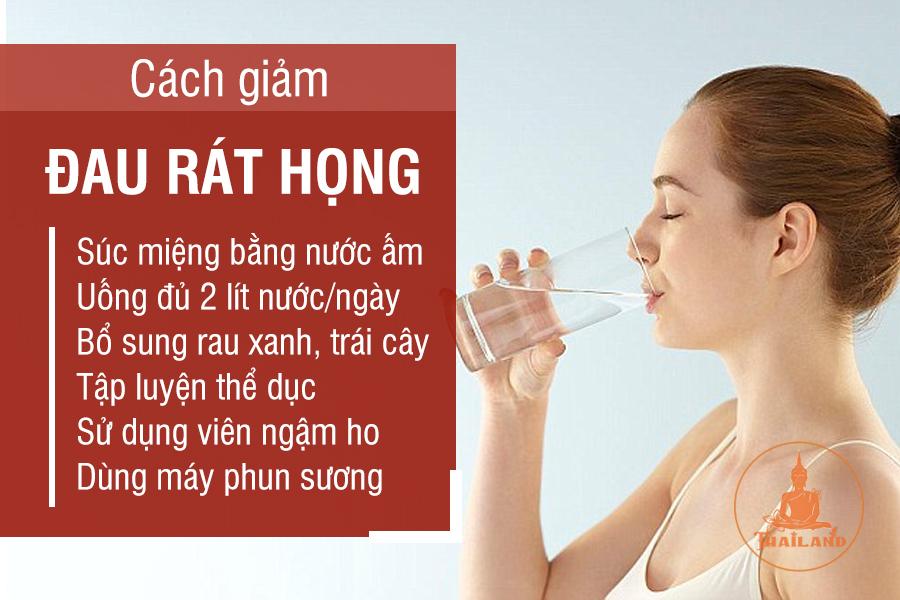 Cách giảm đau rát cổ họng