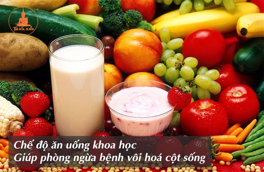 Chế độ ăn uống giúp phòng ngừa bệnh vôi hoá cột sống