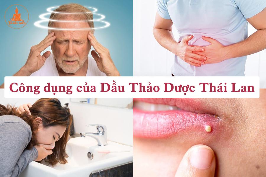 Công dụng của dầu gió thảo dược nhân sâm Thái Lan