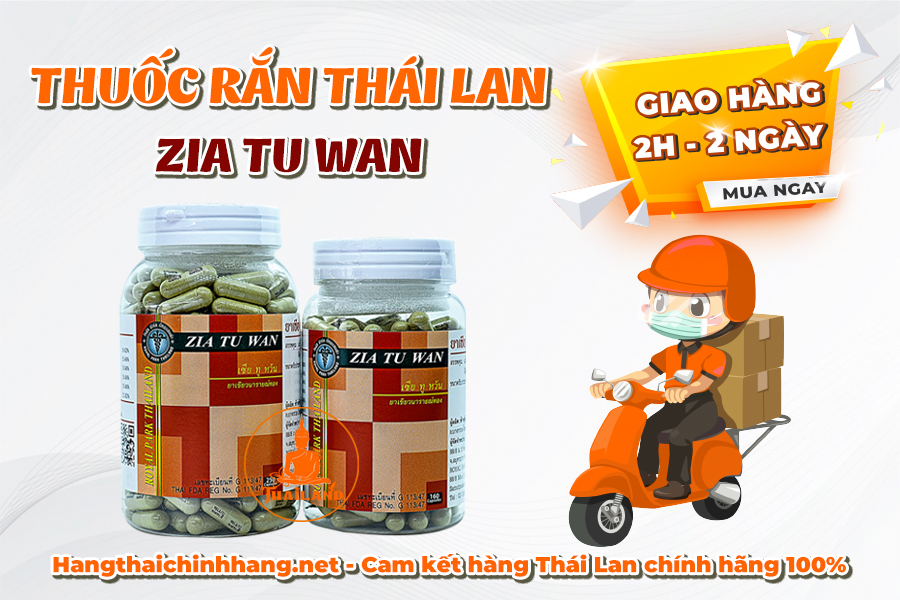 Mua thuốc rắn Thái Lan Số 1 Zia Tu Wan