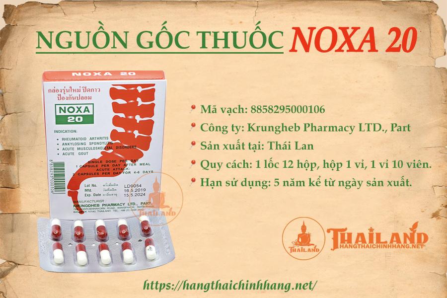 Nguồn gốc thuốc khớp Noxa 20