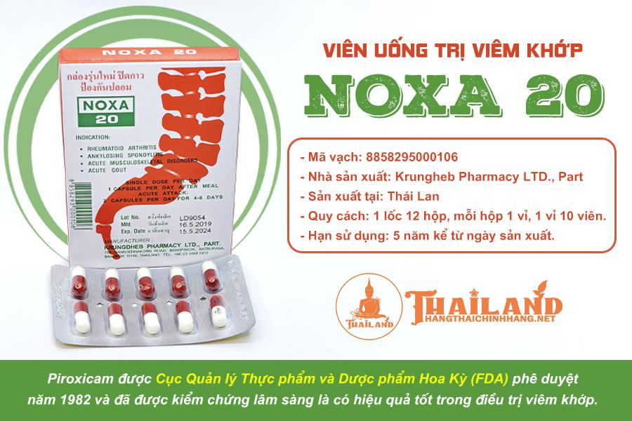 Noxa 20 là thuốc gì?