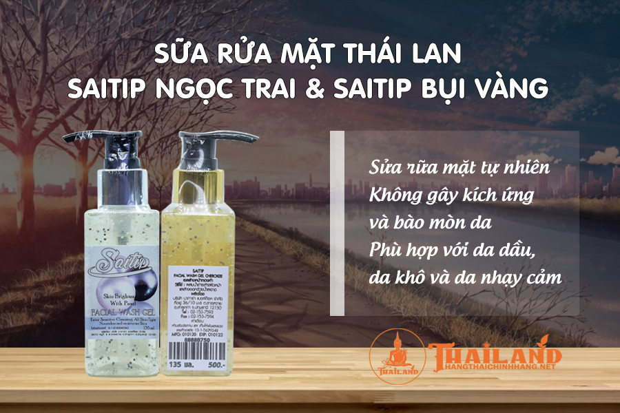 Sữa rửa mặt Thái Lan Saitip