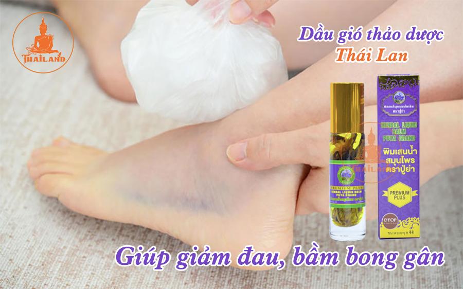 Tác dụng của dầu gió thảo dược Thái Lan