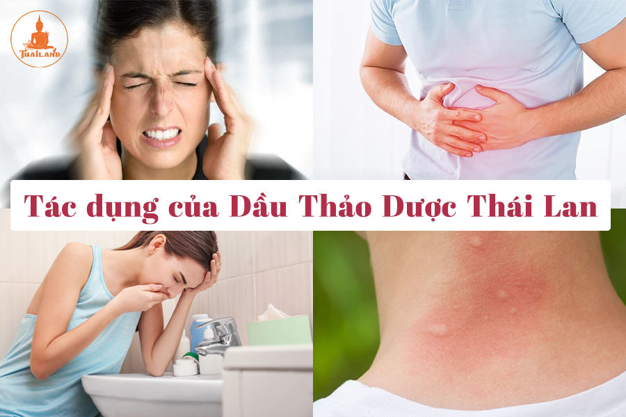 Tác dụng của dầu gió thảo dược sâm Thái Lan