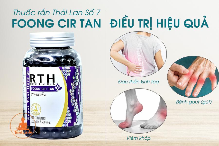 Tác dụng của Thuốc rắn Foong Cir Tan