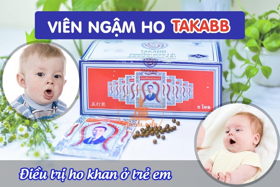 Thuốc điều trị ho khan trẻ em Con rết Takabb Thái Lan
