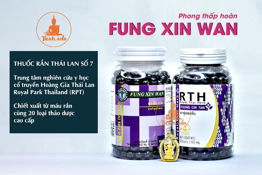 Phong thấp hoàn Fung Xin Wan (thuốc rắn Thái Lan Số 7)