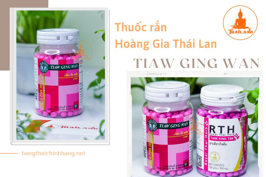 Thuốc rắn Thái Lan số 8 Tiaw Ging Wan