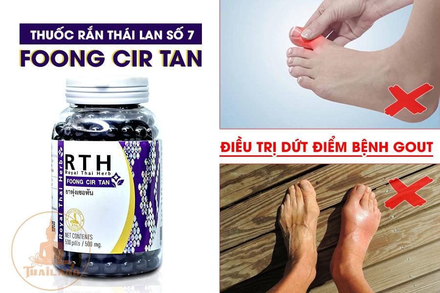 Thuốc điều trị bệnh gout hiệu quả - Foong Cir Tan