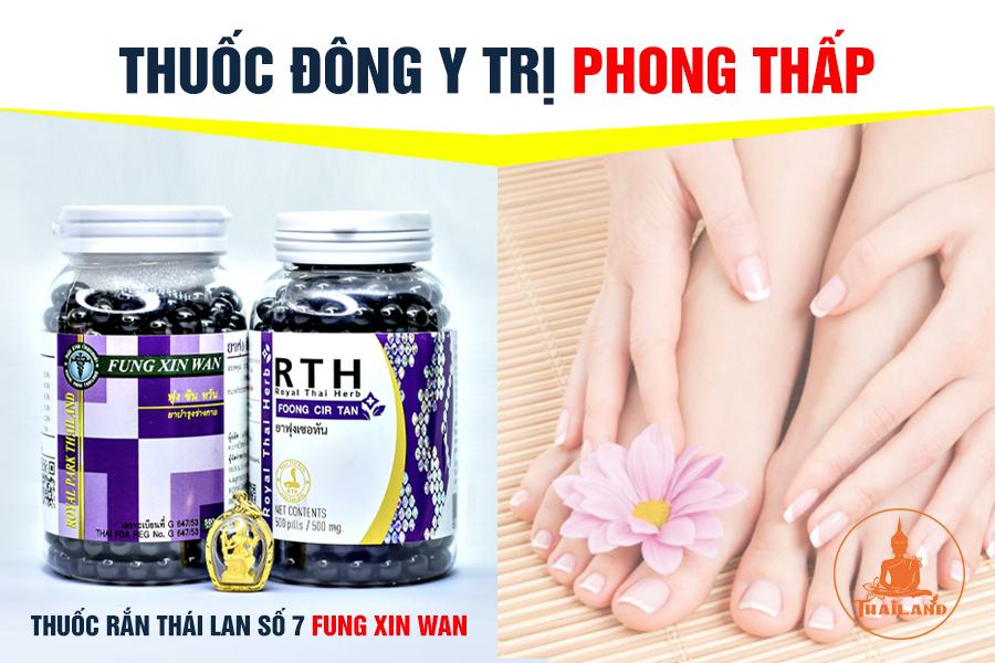 Thuốc trị bệnh phong thấp tay chân Fung Xin Wan Thái Lan