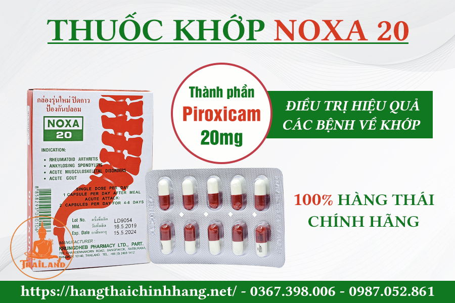 Thuốc trị cứng khớp ngón tay Noxa 20 Thái Lan