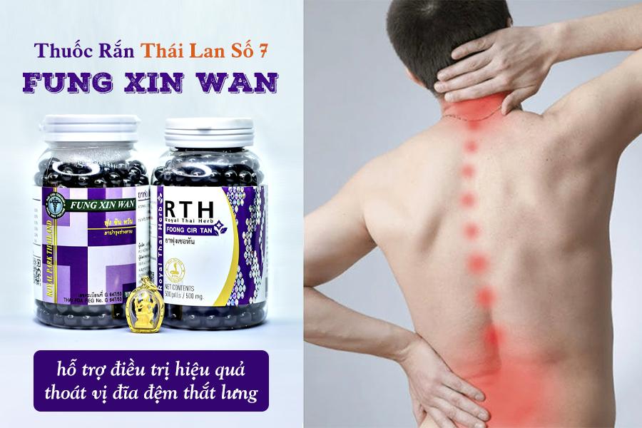 Thuốc điều trị thoát vị đĩa đêmh Fung Xin Wan Thái Lan