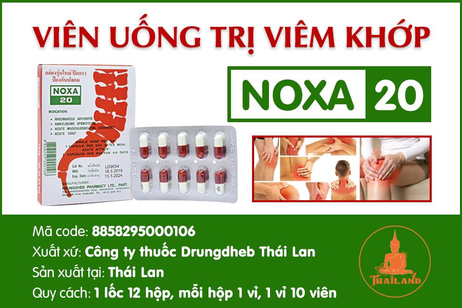 Thuốc trị viêm khớp gối ở trẻ em Noxa 20 Thái Lan