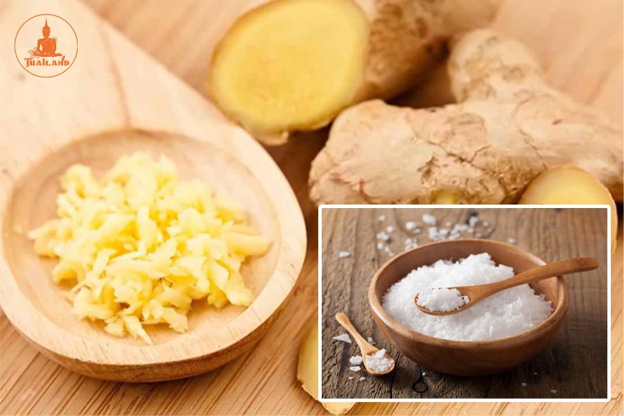 Sử dùng Gừng và muối làm giảm mùi hôi hiệu quả