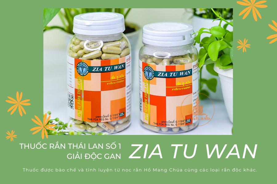 Thuốc rắn Thái Lan Zia Tu Wan: giải độc gan hiệu quả